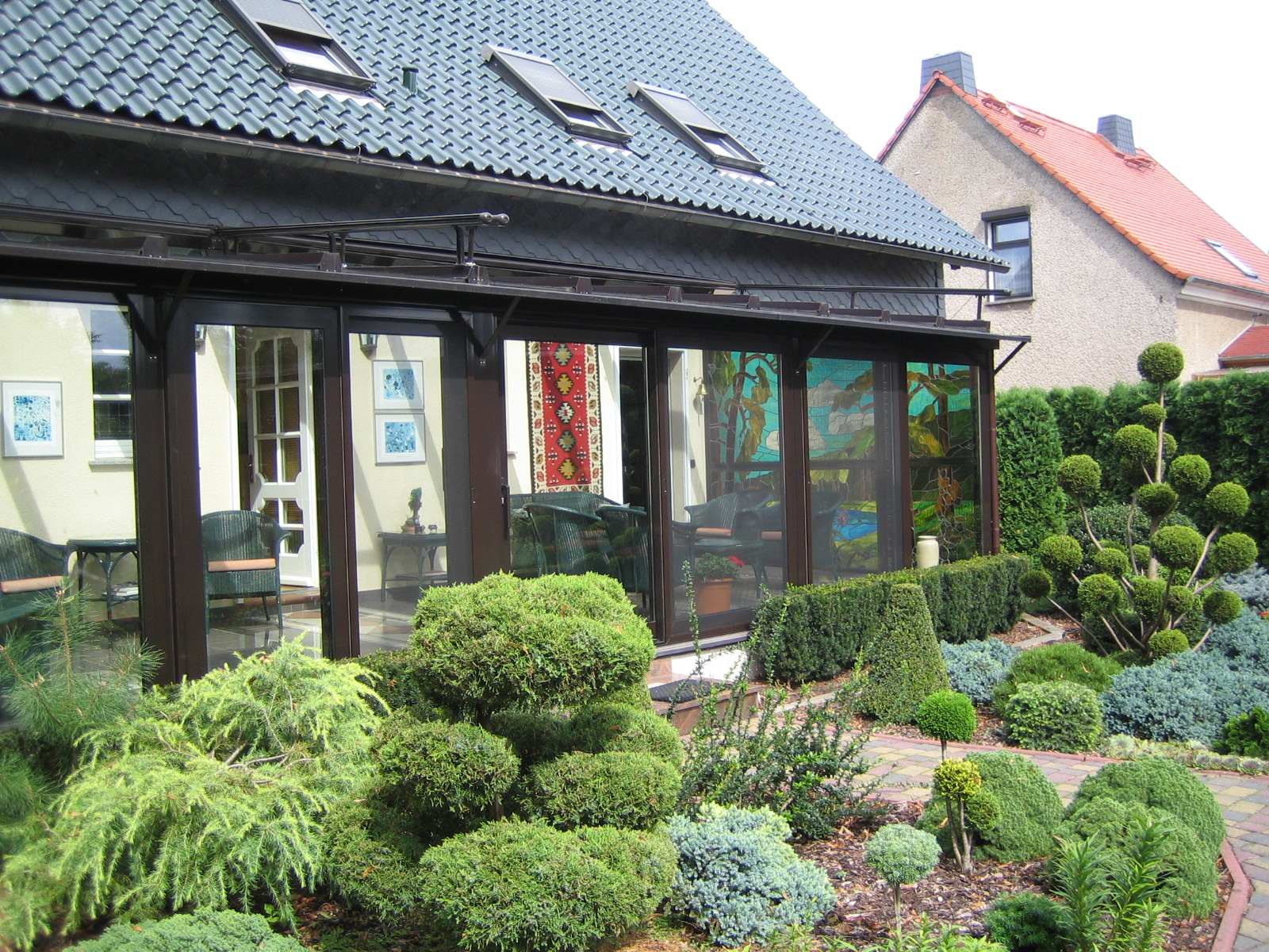 Wintergarten,Markise und Wärmepumpe